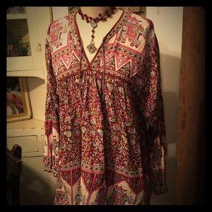 💯% Indian cotton vintage blouse.
